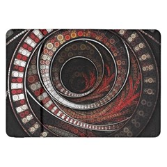 The Thousand And One Rings Of The Fractal Circus Samsung Galaxy Tab 8 9  P7300 Flip Case by jayaprime
