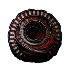 The Thousand And One Rings Of The Fractal Circus Standard 15  Premium Flano Round Cushions by jayaprime