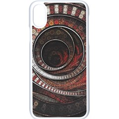 The Thousand And One Rings Of The Fractal Circus Apple Iphone X Seamless Case (white) by jayaprime