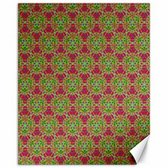 Red Green Flower Of Life Drawing Pattern Canvas 16  X 20   by Cveti