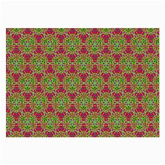Red Green Flower Of Life Drawing Pattern Large Glasses Cloth by Cveti