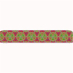 Red Green Flower Of Life Drawing Pattern Small Bar Mats by Cveti