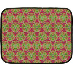 Red Green Flower Of Life Drawing Pattern Double Sided Fleece Blanket (mini)  by Cveti