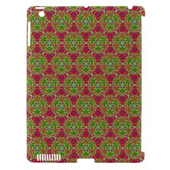 Red Green Flower Of Life Drawing Pattern Apple Ipad 3/4 Hardshell Case (compatible With Smart Cover) by Cveti
