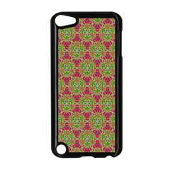Red Green Flower Of Life Drawing Pattern Apple Ipod Touch 5 Case (black) by Cveti