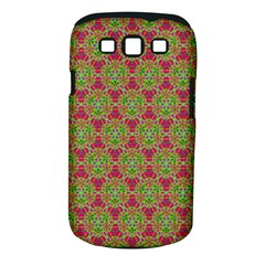Red Green Flower Of Life Drawing Pattern Samsung Galaxy S Iii Classic Hardshell Case (pc+silicone) by Cveti