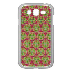 Red Green Flower Of Life Drawing Pattern Samsung Galaxy Grand Duos I9082 Case (white) by Cveti