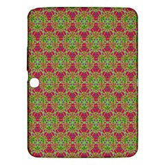 Red Green Flower Of Life Drawing Pattern Samsung Galaxy Tab 3 (10 1 ) P5200 Hardshell Case  by Cveti