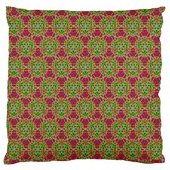Red Green Flower Of Life Drawing Pattern Standard Flano Cushion Case (one Side) by Cveti