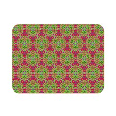 Red Green Flower Of Life Drawing Pattern Double Sided Flano Blanket (mini)  by Cveti