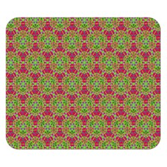Red Green Flower Of Life Drawing Pattern Double Sided Flano Blanket (small)  by Cveti