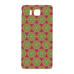 Red Green Flower Of Life Drawing Pattern Samsung Galaxy Alpha Hardshell Back Case by Cveti