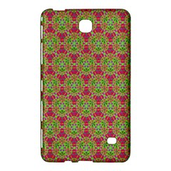 Red Green Flower Of Life Drawing Pattern Samsung Galaxy Tab 4 (8 ) Hardshell Case  by Cveti