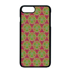 Red Green Flower Of Life Drawing Pattern Apple Iphone 7 Plus Seamless Case (black) by Cveti