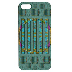 Freedom Is Every Where Just Love It Pop Art Apple Iphone 5 Hardshell Case With Stand by pepitasart