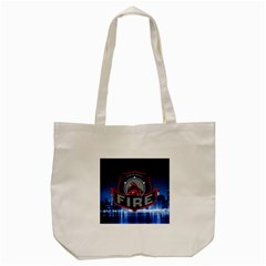 Chicago Fire With Skyline Tote Bag (cream) by allthingseveryone