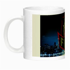 Chicago Fire With Skyline Night Luminous Mugs by allthingseveryone