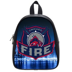 Chicago Fire With Skyline School Bag (small) by allthingseveryone