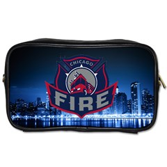 Chicago Fire With Skyline Toiletries Bags by allthingseveryone