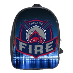 Chicago Fire With Skyline School Bag (xl) by allthingseveryone