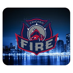 Chicago Fire With Skyline Double Sided Flano Blanket (small)  by allthingseveryone