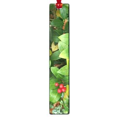 Christmas Season Floral Green Red Skimmia Flower Large Book Marks by yoursparklingshop