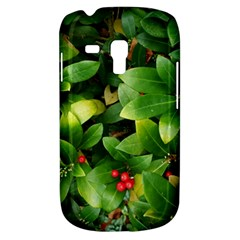 Christmas Season Floral Green Red Skimmia Flower Galaxy S3 Mini by yoursparklingshop