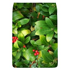 Christmas Season Floral Green Red Skimmia Flower Flap Covers (l)  by yoursparklingshop
