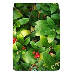 Christmas Season Floral Green Red Skimmia Flower Flap Covers (s)  by yoursparklingshop