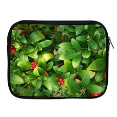 Christmas Season Floral Green Red Skimmia Flower Apple Ipad 2/3/4 Zipper Cases by yoursparklingshop