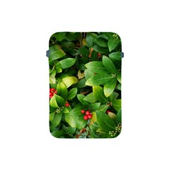 Christmas Season Floral Green Red Skimmia Flower Apple Ipad Mini Protective Soft Cases by yoursparklingshop