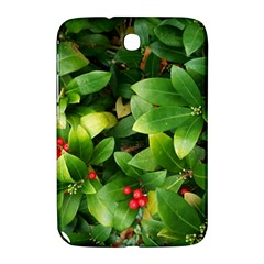 Christmas Season Floral Green Red Skimmia Flower Samsung Galaxy Note 8 0 N5100 Hardshell Case  by yoursparklingshop