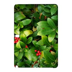 Christmas Season Floral Green Red Skimmia Flower Samsung Galaxy Tab Pro 12 2 Hardshell Case by yoursparklingshop