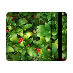 Christmas Season Floral Green Red Skimmia Flower Samsung Galaxy Tab Pro 8 4  Flip Case by yoursparklingshop