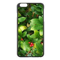 Christmas Season Floral Green Red Skimmia Flower Apple Iphone 6 Plus/6s Plus Black Enamel Case by yoursparklingshop