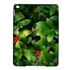 Christmas Season Floral Green Red Skimmia Flower Ipad Air 2 Hardshell Cases by yoursparklingshop