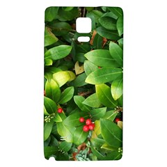 Christmas Season Floral Green Red Skimmia Flower Galaxy Note 4 Back Case by yoursparklingshop