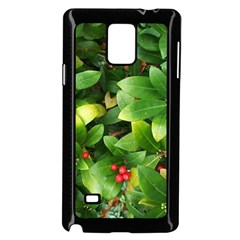 Christmas Season Floral Green Red Skimmia Flower Samsung Galaxy Note 4 Case (black) by yoursparklingshop