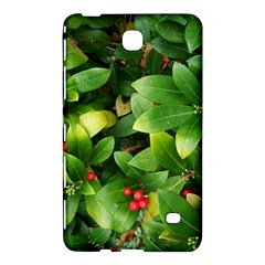 Christmas Season Floral Green Red Skimmia Flower Samsung Galaxy Tab 4 (8 ) Hardshell Case  by yoursparklingshop