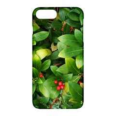 Christmas Season Floral Green Red Skimmia Flower Apple Iphone 7 Plus Hardshell Case by yoursparklingshop
