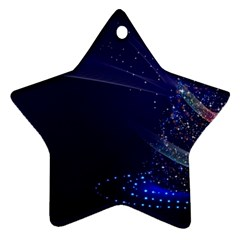Christmas Tree Blue Stars Starry Night Lights Festive Elegant Ornament (star) by yoursparklingshop