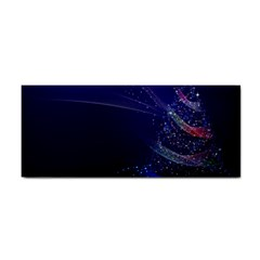 Christmas Tree Blue Stars Starry Night Lights Festive Elegant Cosmetic Storage Cases by yoursparklingshop
