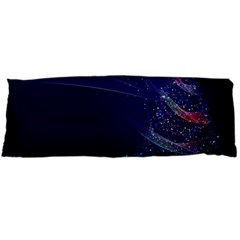 Christmas Tree Blue Stars Starry Night Lights Festive Elegant Body Pillow Case Dakimakura (two Sides) by yoursparklingshop