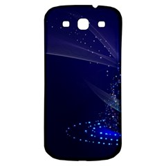 Christmas Tree Blue Stars Starry Night Lights Festive Elegant Samsung Galaxy S3 S Iii Classic Hardshell Back Case by yoursparklingshop