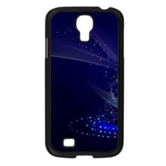 Christmas Tree Blue Stars Starry Night Lights Festive Elegant Samsung Galaxy S4 I9500/ I9505 Case (black) by yoursparklingshop