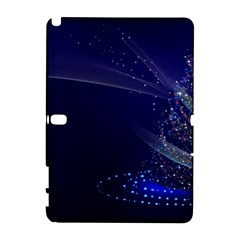 Christmas Tree Blue Stars Starry Night Lights Festive Elegant Galaxy Note 1 by yoursparklingshop
