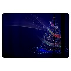 Christmas Tree Blue Stars Starry Night Lights Festive Elegant Ipad Air Flip by yoursparklingshop