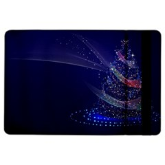 Christmas Tree Blue Stars Starry Night Lights Festive Elegant Ipad Air 2 Flip by yoursparklingshop