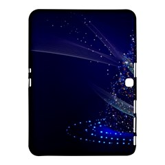 Christmas Tree Blue Stars Starry Night Lights Festive Elegant Samsung Galaxy Tab 4 (10 1 ) Hardshell Case  by yoursparklingshop