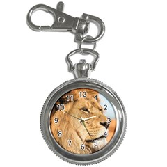 Big Male Lion Looking Right Key Chain Watches by Ucco